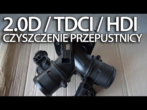 Czyszczenie Przepustnicy W 2.0D TDCi HDi (Volvo Ford Peugeot 136PS IAT MAP)