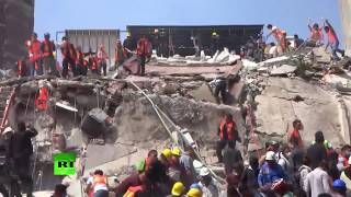 Hundreds struggle to find survivors after quake collapses 38 Mexico City buildings