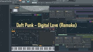 Daft Punk - Digital Love (Bengston Remake in FL Studio 12) | Using ONLY stock FL plugins and samples