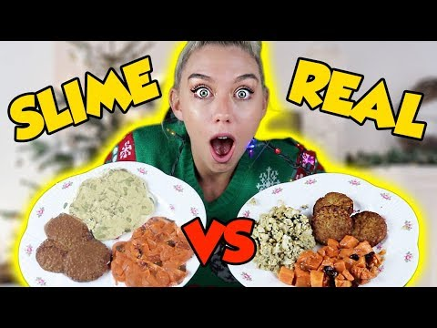 Download Youtube: MAKING FOOD OUT OF SLIME! SLIME VS FOOD! SUPER SATISFYING