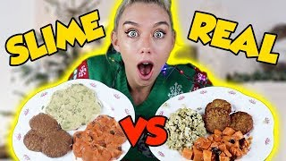 MAKING FOOD OUT OF SLIME! SLIME VS FOOD! SUPER SATISFYING
