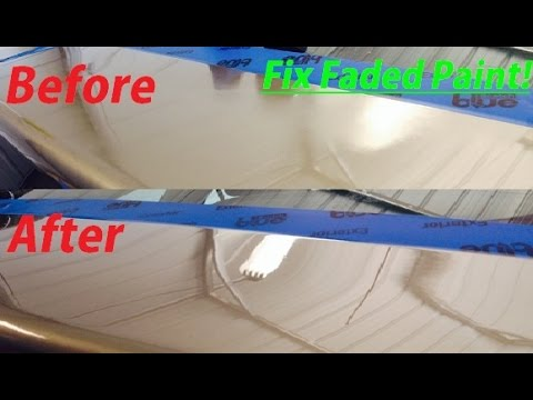 How to fix faded Paint and Clear Coat with 3M Products!