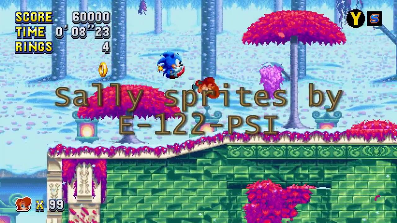 Sonic Mania Mod: Princess Sally Acorn as Knuckles skin