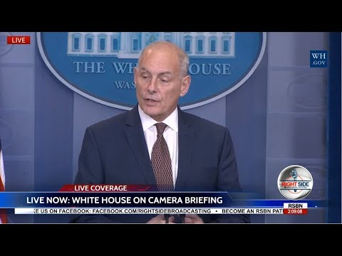 LIVE Chief of Staff Gen John Kelly White House Press Briefin