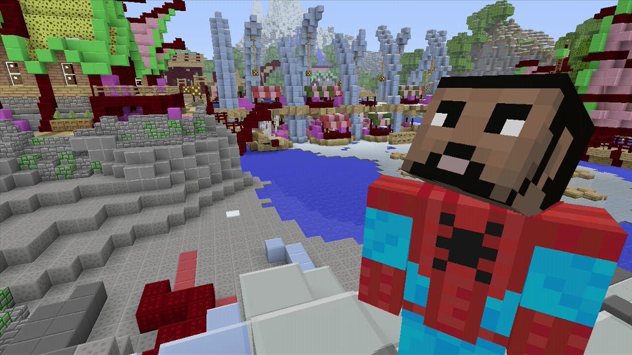 LIVE Minecraft Xbox MARVEL SPIDER MAN HUNGER GAMES