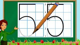 Thanh nấm - Tập viết số, và đếm số từ 0 đến 9