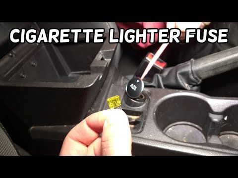 CIGARETTE LIGHTER FUSE LOCATION AND REPLACEMENT FORD FOCUS