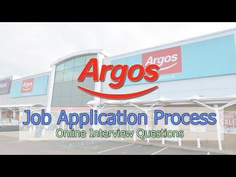Argos Job Application Process - Online Interview Questions 2018