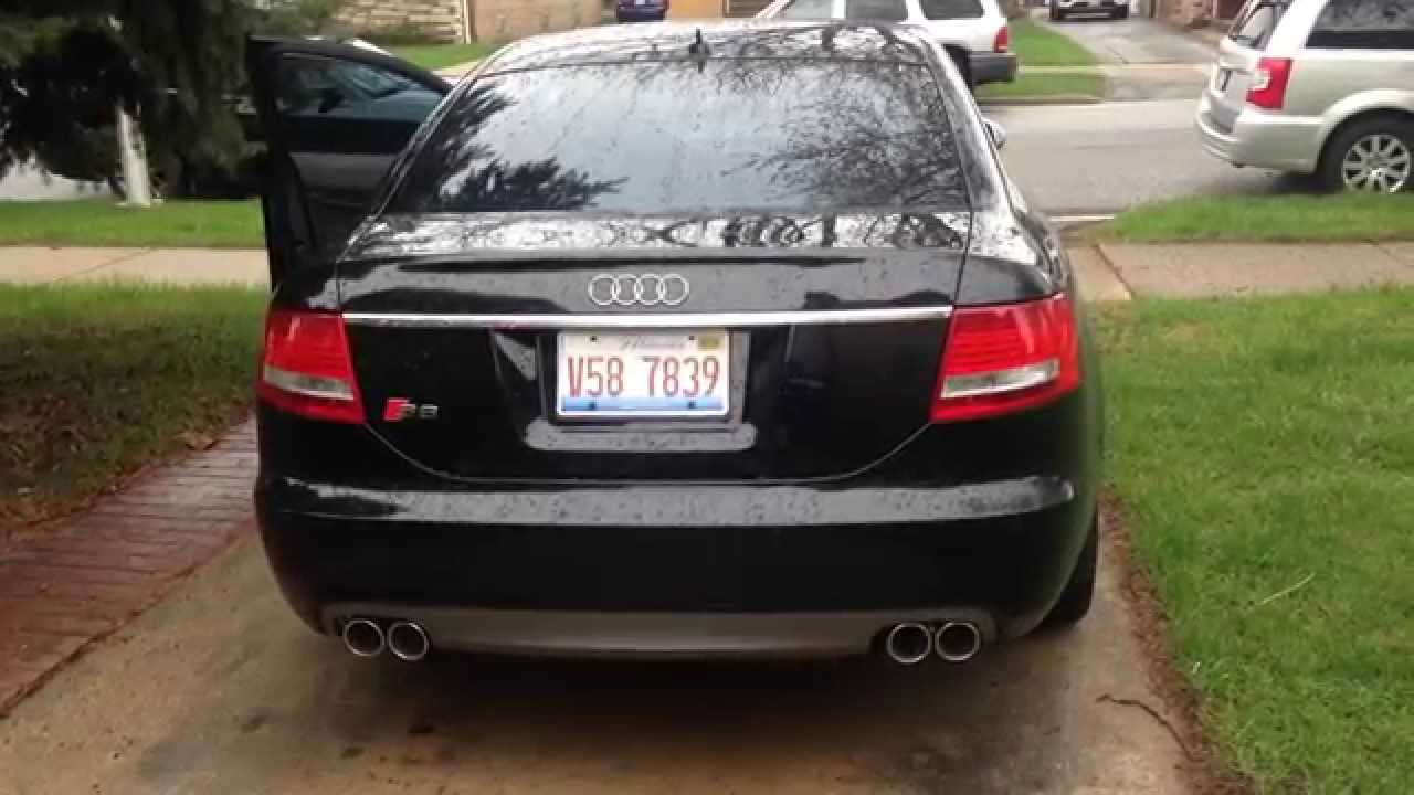 hd 2008 audi s6 v10 brutal exhaust sound miltek. Black Bedroom Furniture Sets. Home Design Ideas