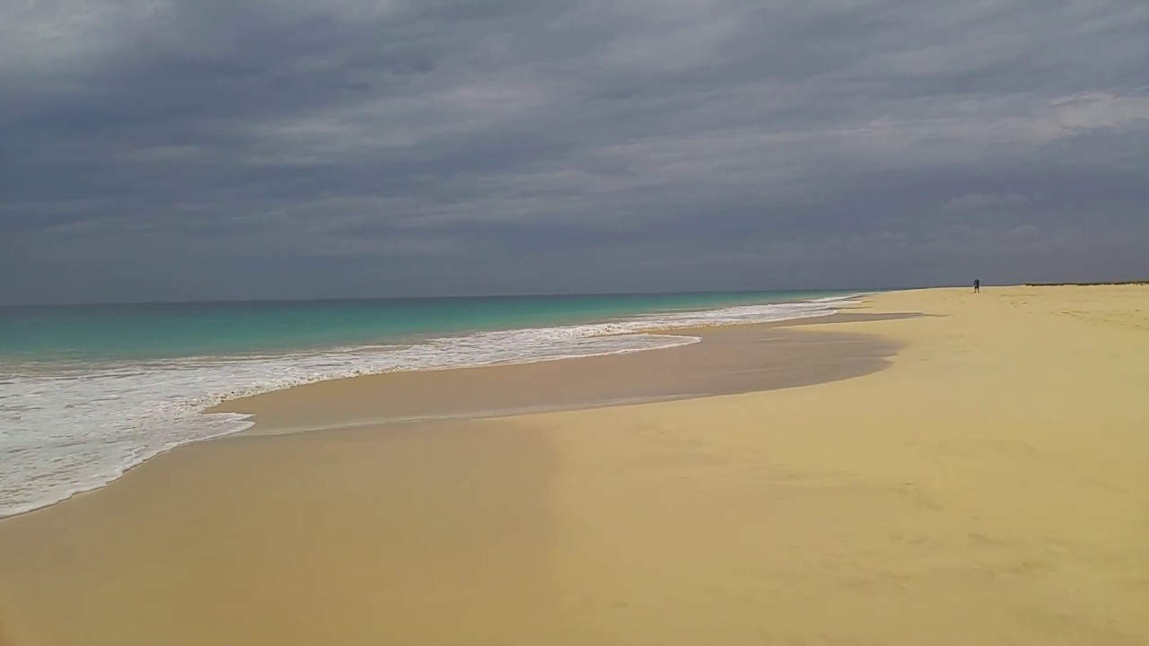 Spiaggia Praia Santa Monica Boavista Capo Verde Spiaggia Di