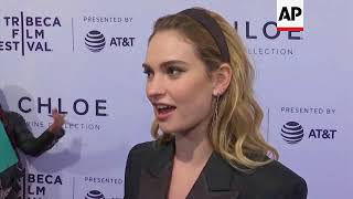 Lily James feels 'inspired' by 'Little Woods' female team