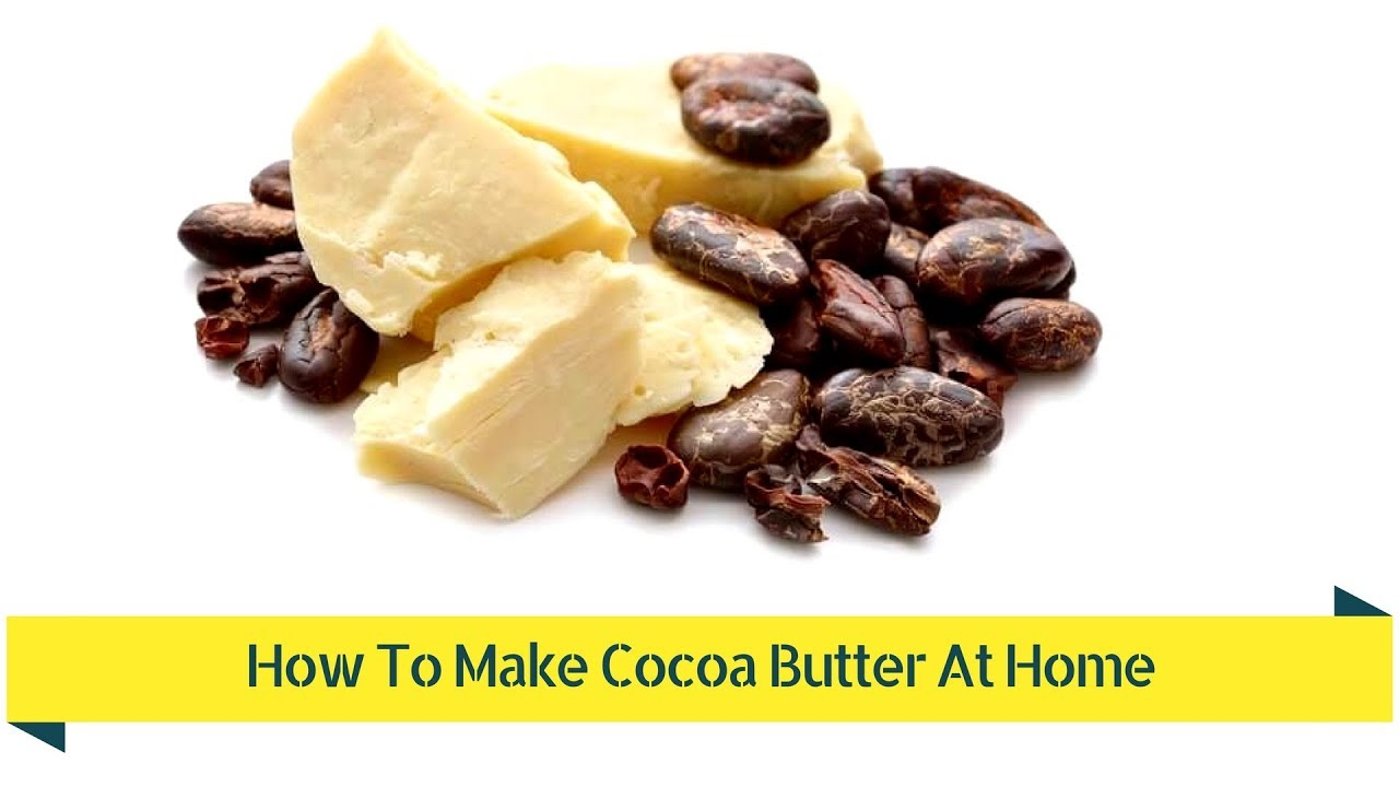 Cosmetics based on cocoa butter at home