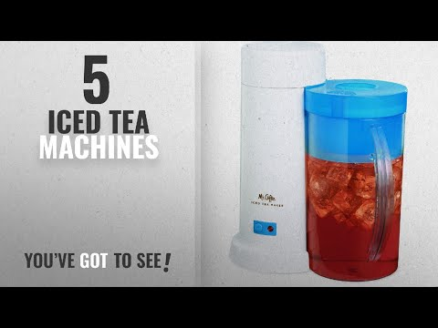 Top 10 Iced Tea Machines [2018]: Mr. Coffee TM1 2-Quart Iced Tea Maker for Loose or Bagged Tea, Blue