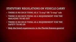 Florida Vehicle Carry of Firearms Overview - Florida Rights Institute