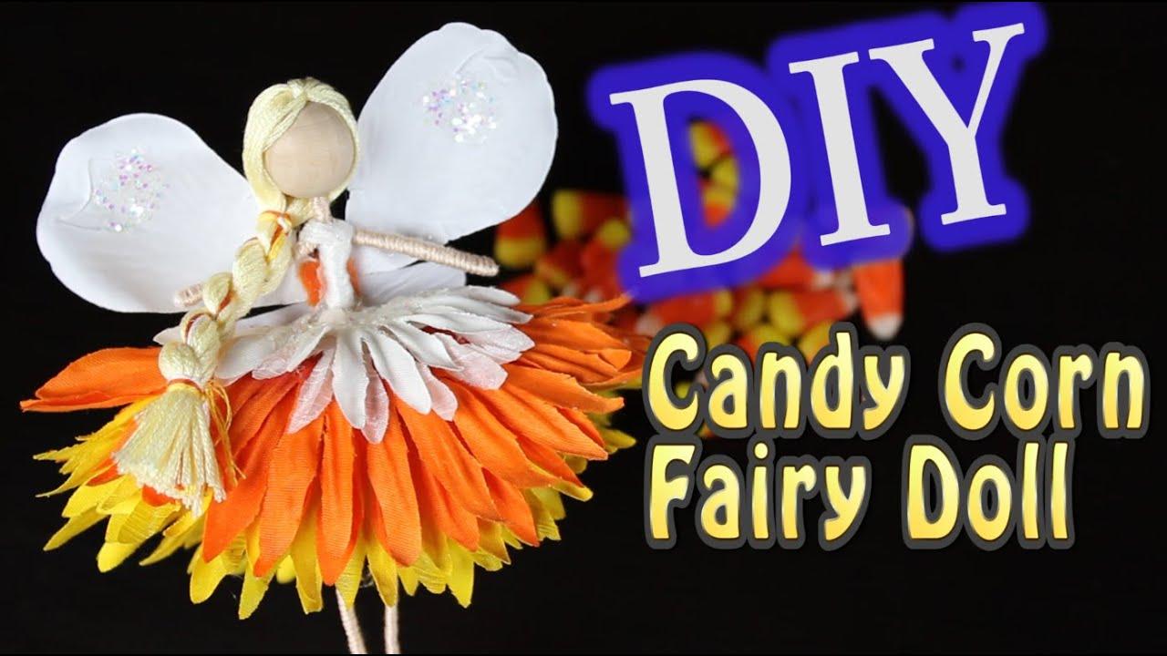 diy halloween decorations candy corn fairy doll youtube