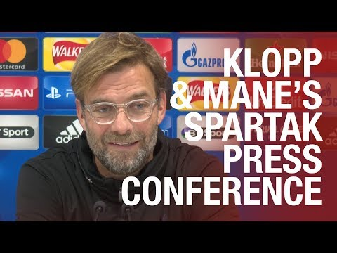 Liverpool's pre-Spartak Moscow Champions League press conference
