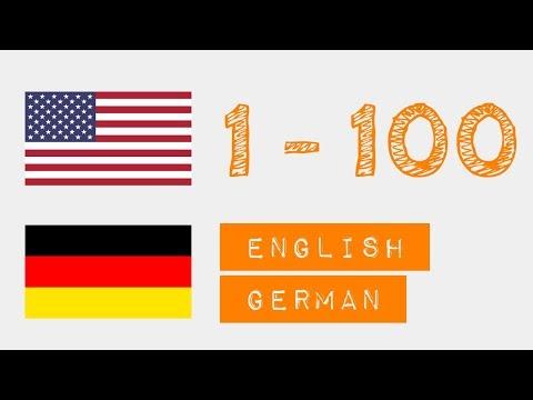 Zahlen von 1 bis 100 auf  - Englisch - Deutsch