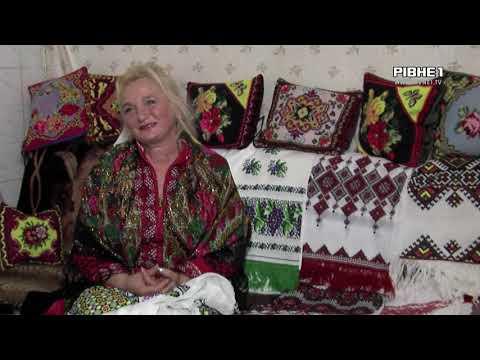 TVRivne1 / Рівне 1: Майстриня із Сарненщини вишиває різнокольорові вишиванки