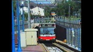 Mit dem Spurbus durch den Essener U-Bahn Tunnel 24.05.1993
