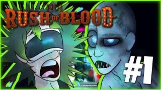 CRAZIEST GHOST TRAIN EVER! | UNTIL DAWN RUSH OF BLOOD VR #1 | DAGames