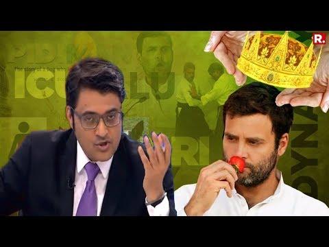 Arnab Goswami's Take On Congress' New President - Rahul Gandhi