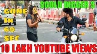 Fastest GOLD DIGGER prank on HARLEY DAVIDSON BIKE