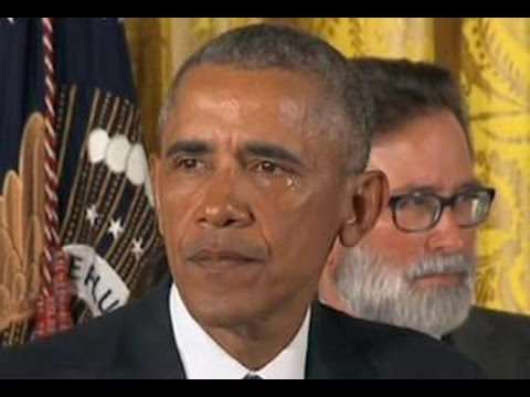 Obama Tears Up Recounting Mass Shootings