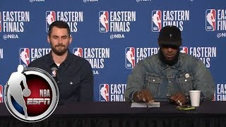 [FULL] Kevin Love jokes about his pass to LeBron James   NBA on ESPN