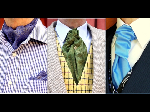 How to tie a Cravat, an Ascot and a Ruche Tie (Know the Difference and how to wear them!)