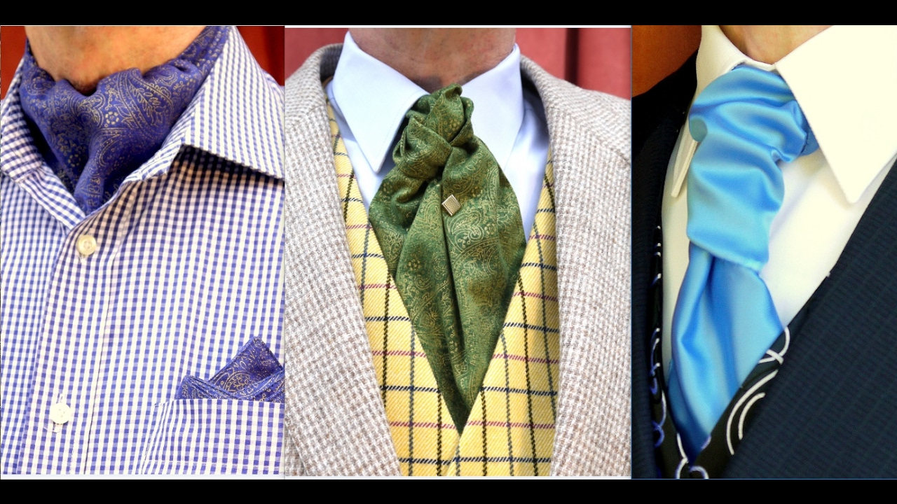 How To Tie A Cravat An Ascot And A Ruche Tie Know The Difference