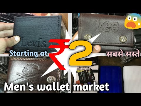 Branded Gent's wallet and purse wholesale market leather, PU