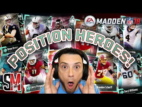 Offensive Position Heroes! Sparkle Cards! Madden NFL 18 Pack Opening