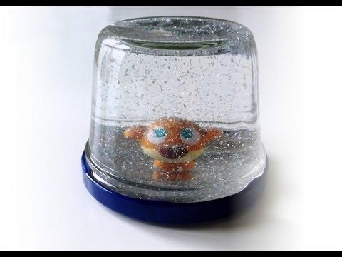 Portavasos de fieltro f cil doovi - Bola nieve cristal ...