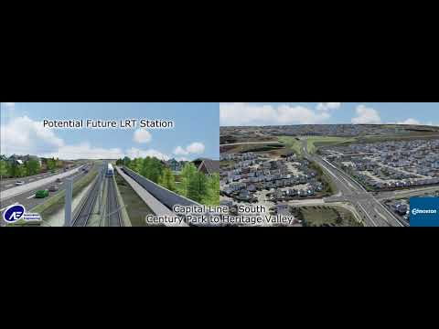 Capital Line South LRT Extension Alignment Video