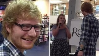 Ed Sheeran Crashes Fan's Mall Performance Of 'Thinking Out Loud'