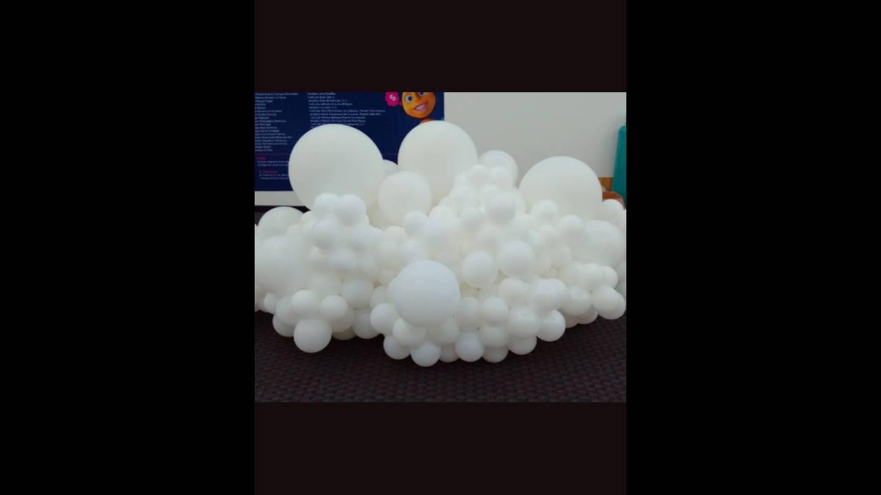 Nubes espectaculares con globos youtube - Como hacer una nube ...