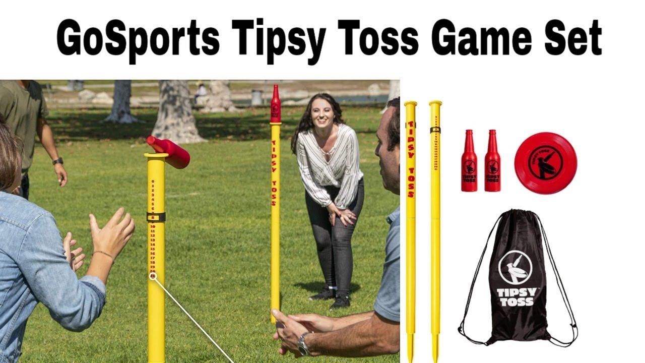 GoSports Tipsy Toss Game Set Flying Disc Bottle Drop Yard Game