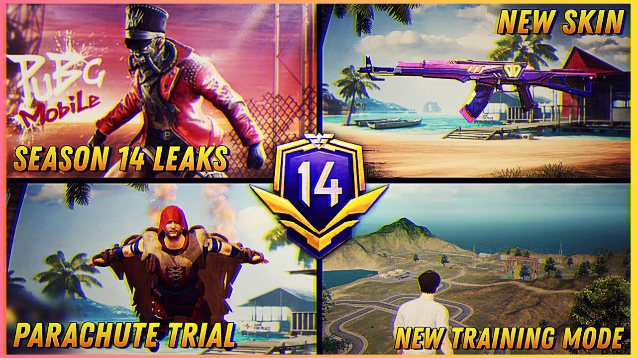 FINALLY SEASON 14 ROYAL PASS 1 TO 100 RP REWARDS IS HERE   NEW TRAINING MODE   NEW PARACHUTE TRAIL