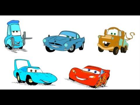 Как нарисовать машинки. Тачки мультфильм. Раскраски.  How to draw cars . Cars cartoon . Colouring