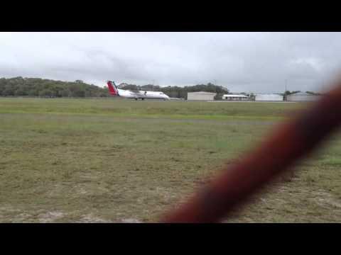 Skytrans Dash 8 Q300 Take Off From Sunshine Coast Airport