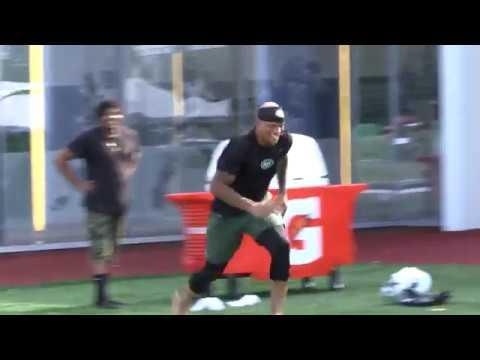 Rontez Miles Does Backflip After Jets Camp