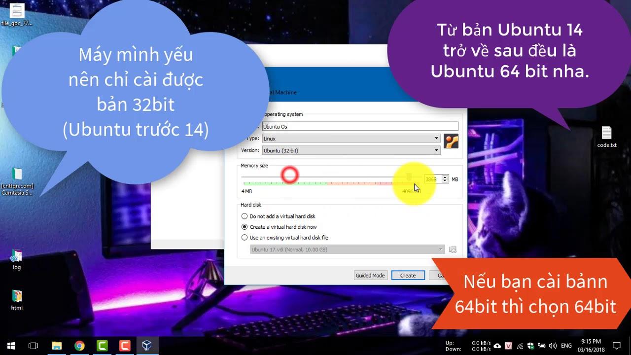 Hướng dẫn cài đặt Ubuntu trên máy ảo VirtualBox trong Windows 10