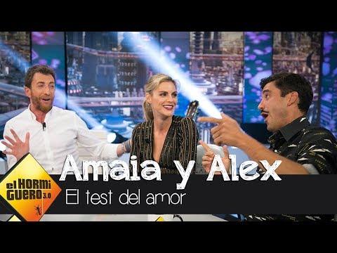 Amaia Salamanca y Álex García responden al 'test del amor'  El Hormiguero 3.0