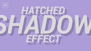 How to Create a Hatched Drop Shadow Text Effect in Adobe Photoshop!