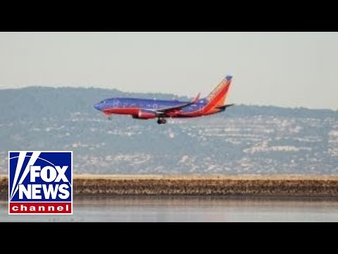 Southwest plane's engine burst into flames midair