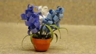 Quilled Miniature Plants:Hyacinths