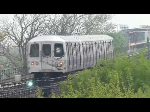IND Far Rockaway Line: R46 Rockaway Park Shuttle Train at Beach 25th St-Wavecrest (Weekend-G.O.)