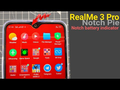 RealMe 3 Pro Notch Pie Battery Indicator on Notch Area - YouTube