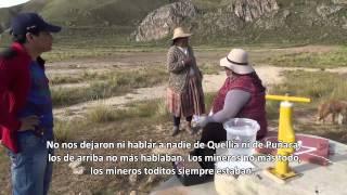Comunaria de Quellía denuncia la contaminación de sus aguas por la actividad minera