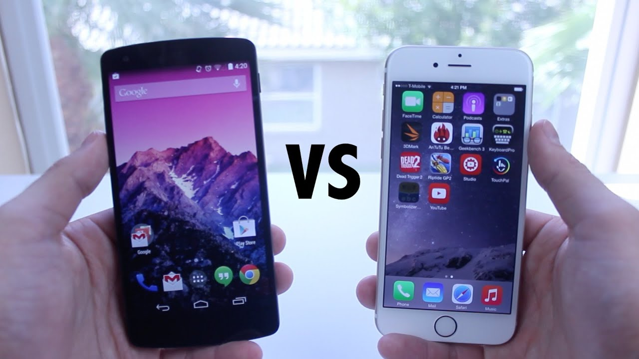 iphone 6 vs lg google nexus 5 which is faster youtube